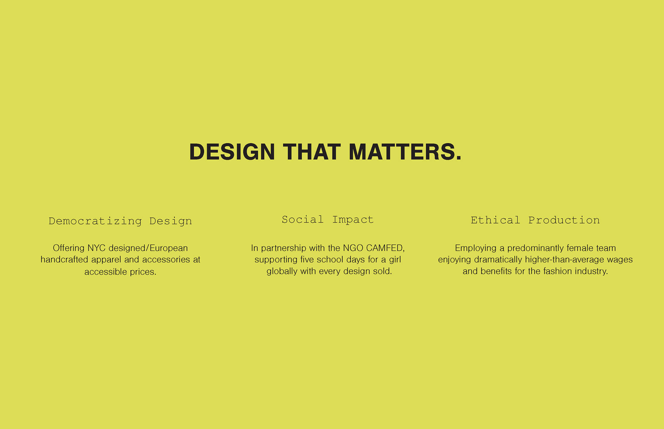 Design that matters marcella nyc