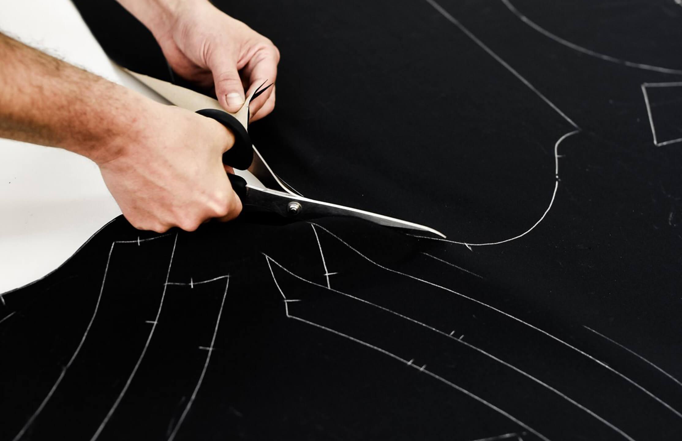 seamstress cutting fabric marcella nyc